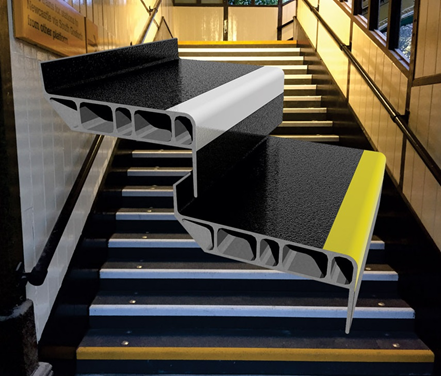 Dura slab frp structural stair treads win top award for design innovation in recognition of for Composite exterior stair treads