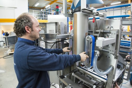 The art of reduction: the packaging machines from VH Vertical Packaging have a simple structure.